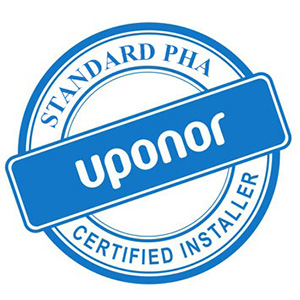 Standard is Uponor certified installer seal
