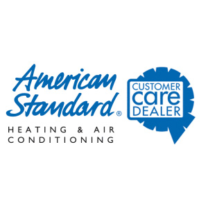 American Standard Heating and Air Conditioning Customer Care Dealer seal