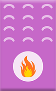 Icon of a gas furnace that uses a pilot light