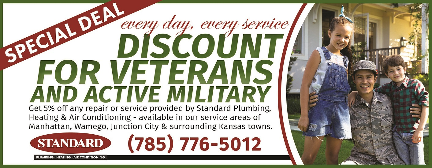 Coupon for heating and ac service for veterans and members of active military