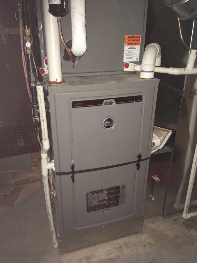 Furnace and AC unit in basement