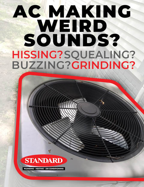 air conditioner Making odd noises diagnosis for hissing, buzzing, squealing, and clanking