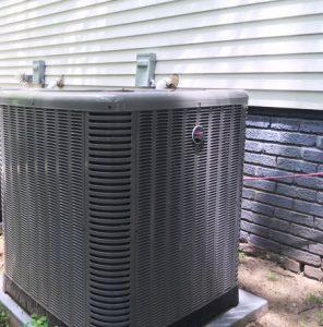 Outside AC unit compressor