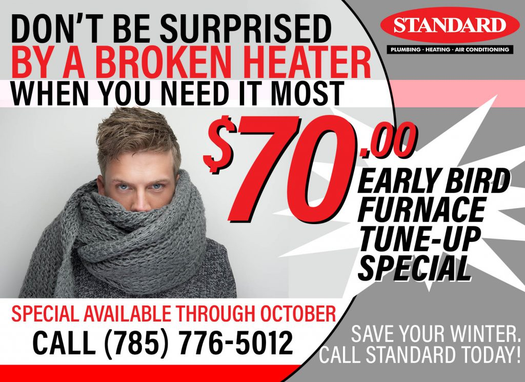 Promotional ad for Early Bird Furnace Tune Up Special by Standard in Manhattan