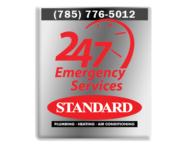 Standard promotional graphic for 24/7 emergency furnace repair service
