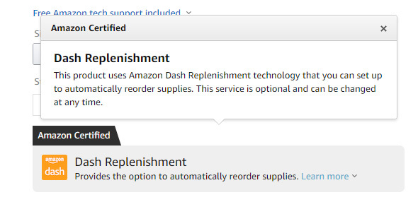 Dash Replenishment service from Amazon to get filters automatic delivery