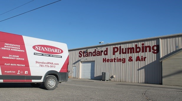 Standard Plumbing Heating Air Conditioning building and van in Manhattan, KS providing professional duct cleaning services