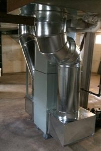 New furnace in basement of Manhattan home